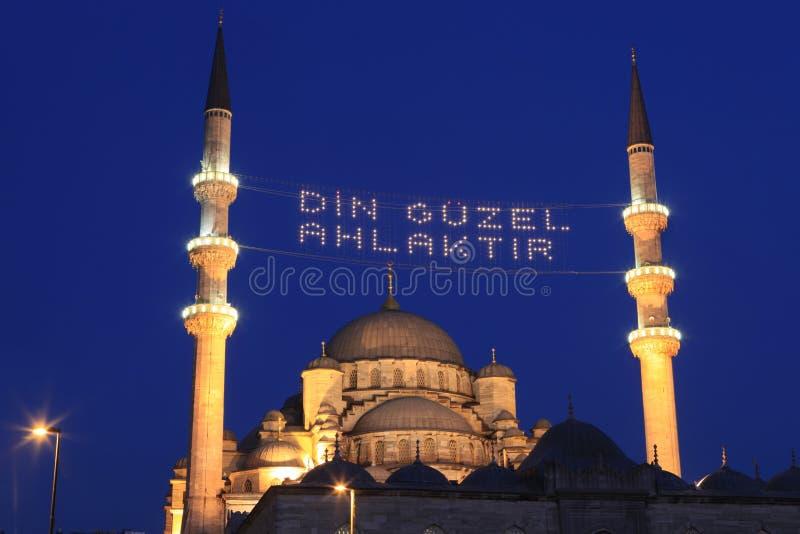 Mosquée neuve dans Ramadan à Istanbul, Turquie photo stock