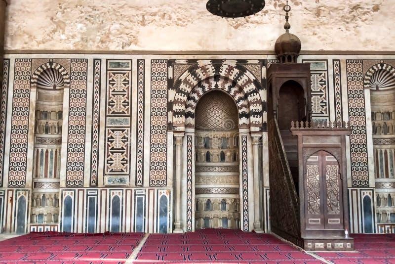 Mosquées égyptiennes La mosquée le temple musulman en Egypte photographie stock libre de droits