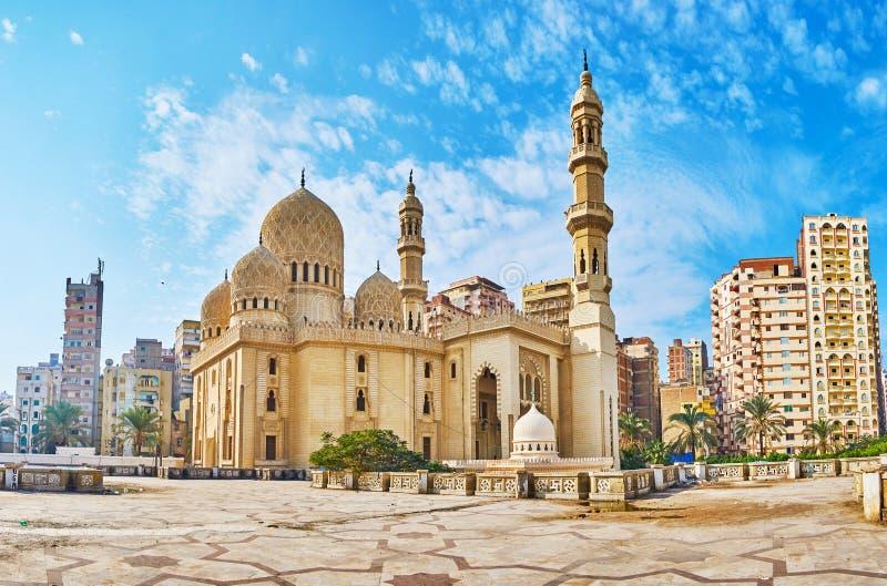 Mosquées historiques à l'Alexandrie, Egypte photo stock