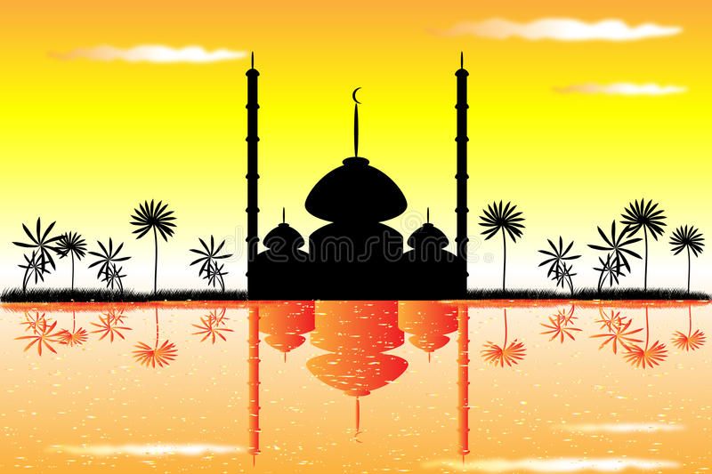 The mosque royalty free illustration