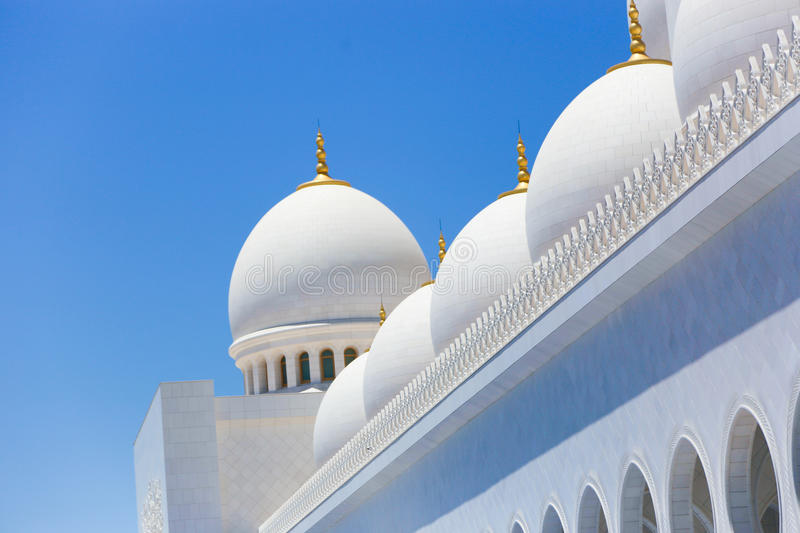 Mosque - Abu Dhabi - Shaiekh Zayed. Grand modern Mosque - Shaiekh Zayed Grand Mosque - Abu Dhabi, Emirates stock image