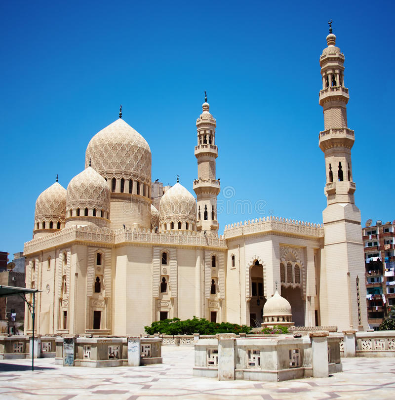 Mosque in Alexandria, Egypt. Mosque of Abu Abbas al Mursi in Alexandria, Egypt stock images