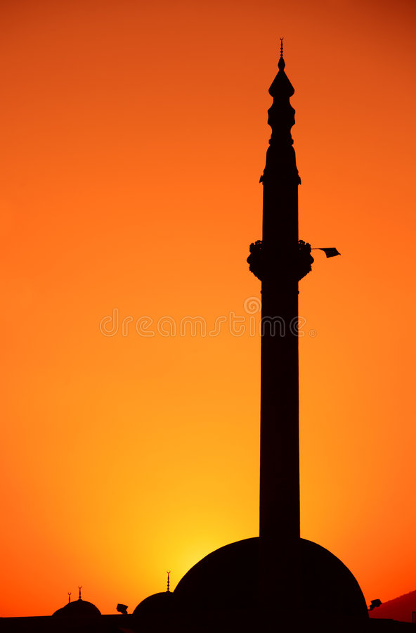 Free Mosque At Sunrise In Skopje Royalty Free Stock Image - 4364156