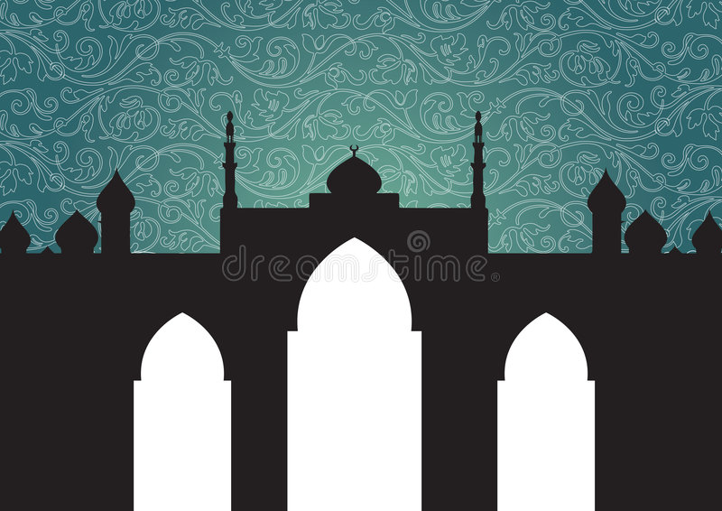 Mosque background royalty free illustration