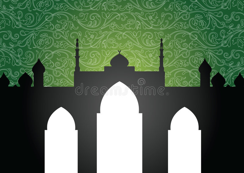 Mosque background vector illustration