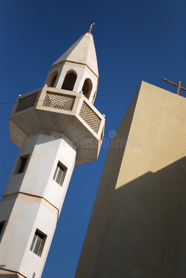 Mosque in Bahrain royalty free stock image