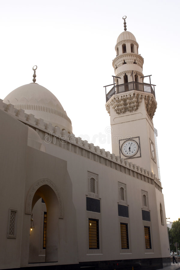 Mosque in Bahrain. Mosque in city center (Bab-al bahrain) in Manama - Bahrain royalty free stock image