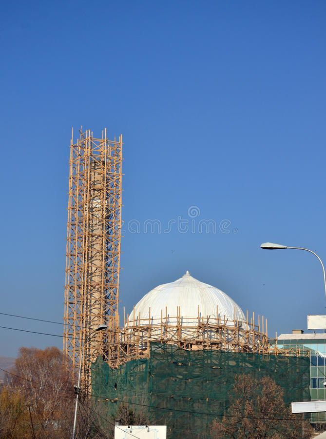 Mosque in Bitola, Macedonia. Picture of a Mosque in Bitola, Macedonia royalty free stock photo