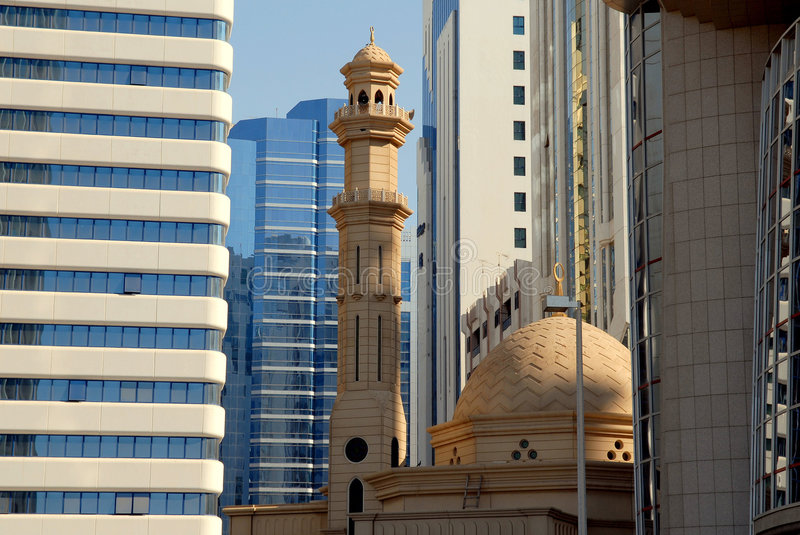 Mosque and Buildings royalty free stock photography