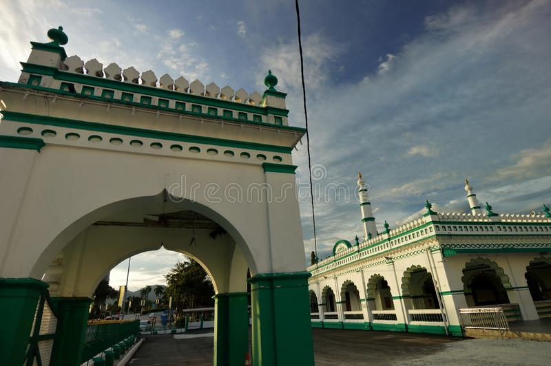 Masjid India Muslim Ipoh. This mosque caters for the small South Indian Muslim community who practices the Hanafi fiqh the Malay majority practices the Shafii royalty free stock image