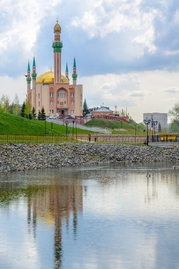 Mosque in the city Almetyevsk Tatarstan Russia royalty free stock photography