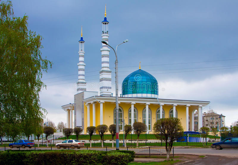 Mosque in the city of Uralsk, Kazakhstan. Kazakhstan, Uralsk city, May, 4th, 2011. Muslim mosque in the city of Uralsk, Kazakhstan. The photo is made on May, 4th royalty free stock photos