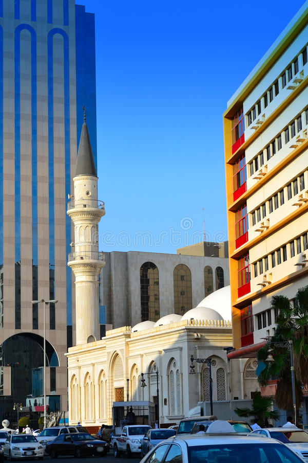 Mosque In Commercial Center Of Jeddah Stock Image