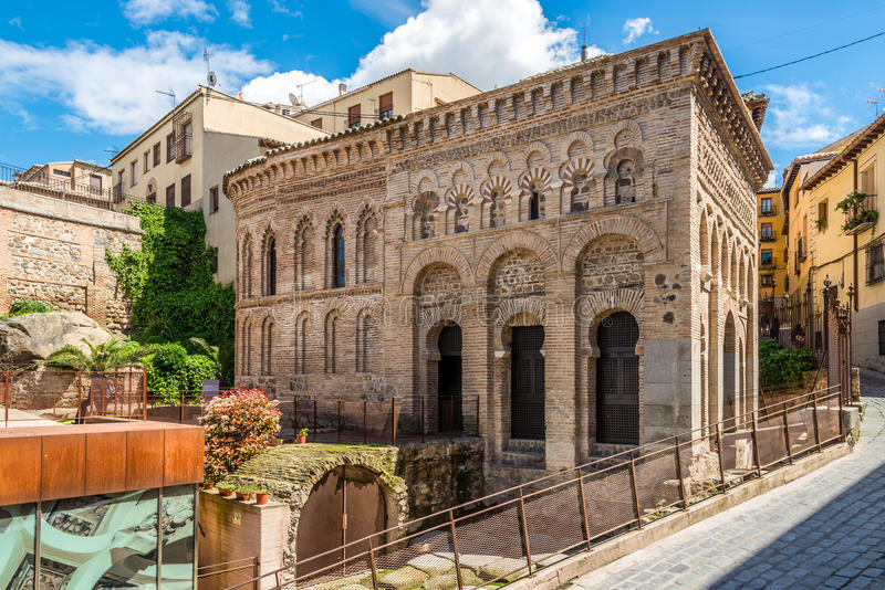 Mosque Cristo de Λα Luz στην παλαιά πόλη του Τολέδο στοκ εικόνα με δικαίωμα ελεύθερης χρήσης