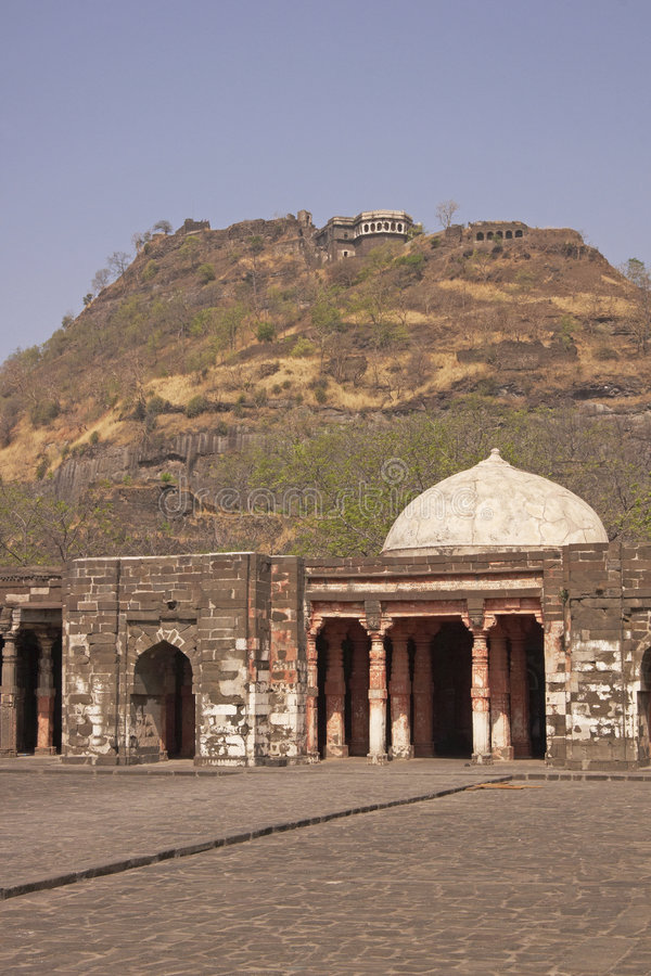 Mosque at Daulatabad Fort royalty free stock photo