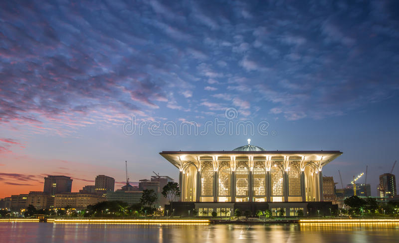 Download Mosque At Dawn stock image. Image of religion, malaysia - 32780265
