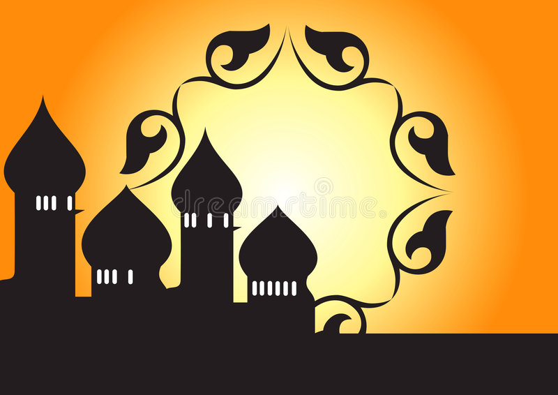 Mosque decorative - vector royalty free illustration