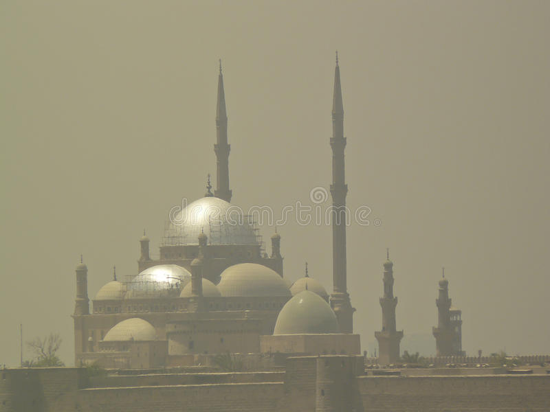 Download Mosque in desert storm stock photo. Image of faith, east - 34298610