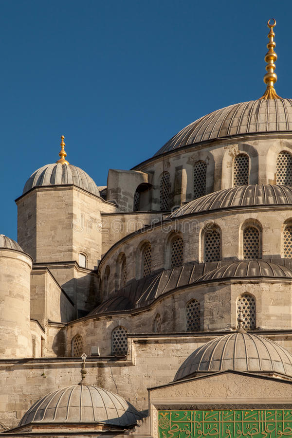 Mosque detail view. Partial view of a mosque in Istanbul Turkey royalty free stock photography