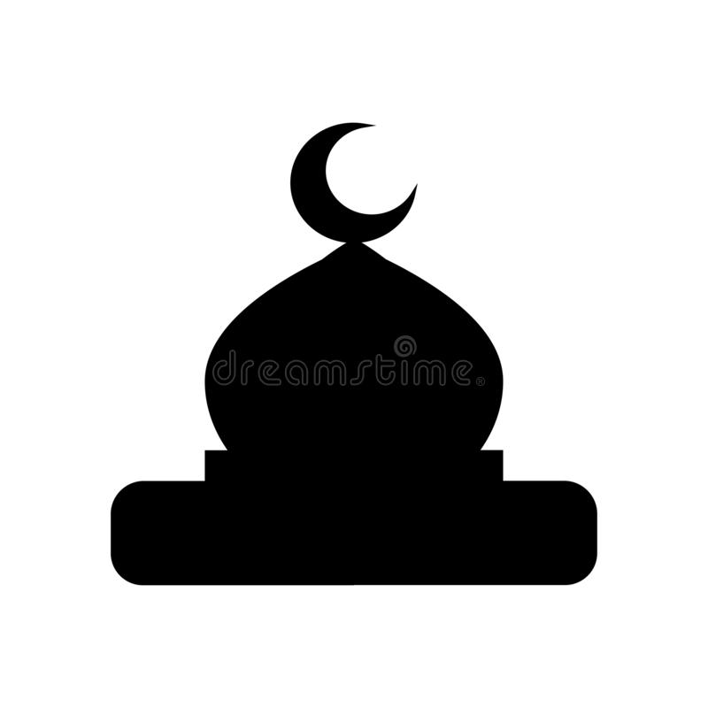 Mosque dome icon vector on white background stock illustration
