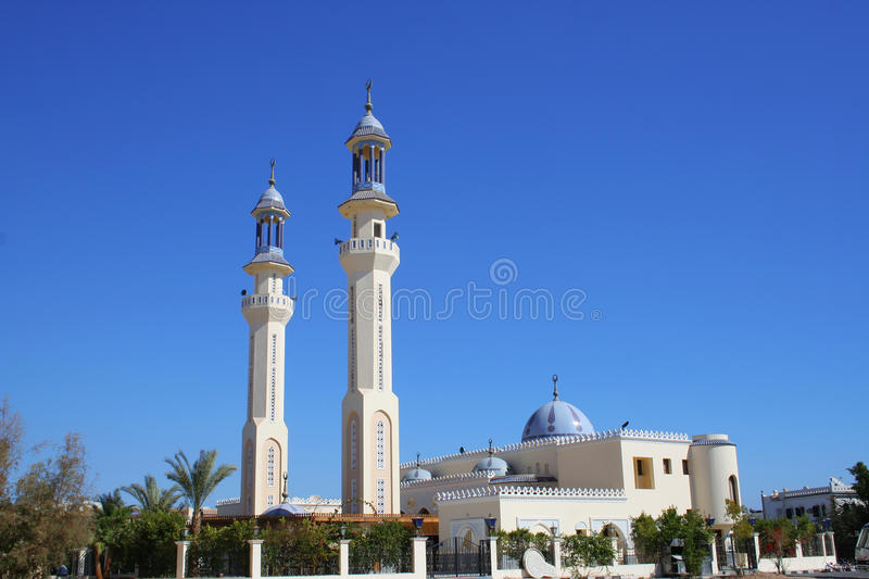 Mosque in Egypt. Beautiful mosque in the center of Sharm el Sheikh, Egypt stock image