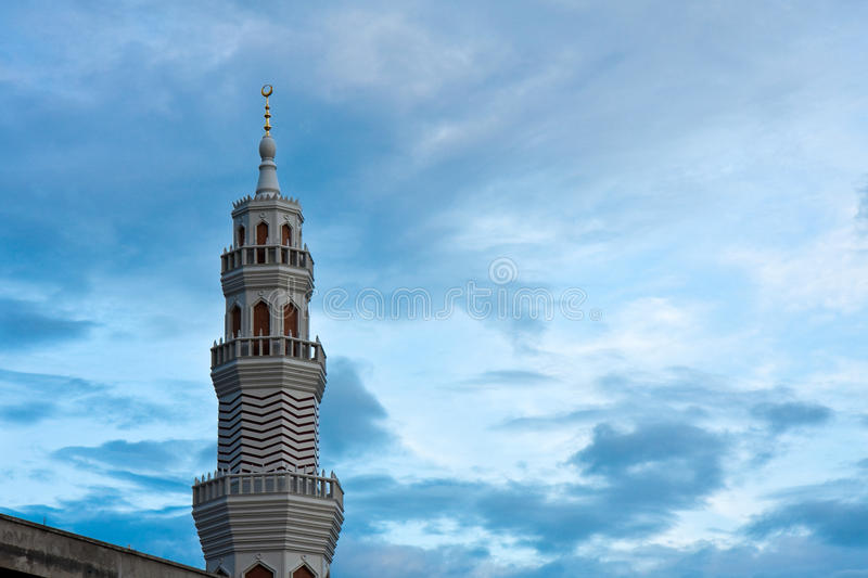 Mosque in the Evening royalty free stock photos