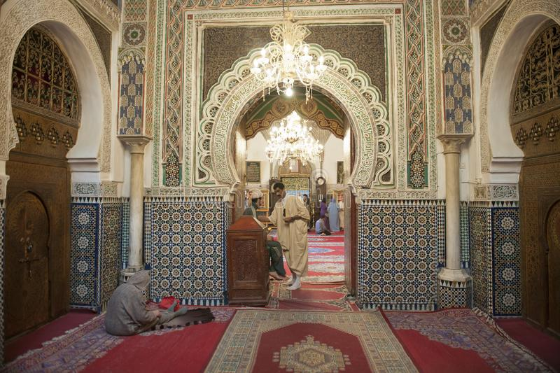Mosque in Fez, Morocco royalty free stock images