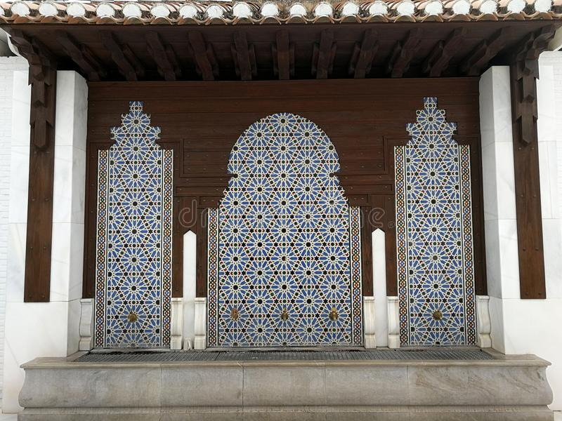 Mosque of Granada, source for ablutions; only editorial use. Mosque of Granada, source for ablutions, 2017.09.27,; only editorial use; Mosque of the city of stock photo