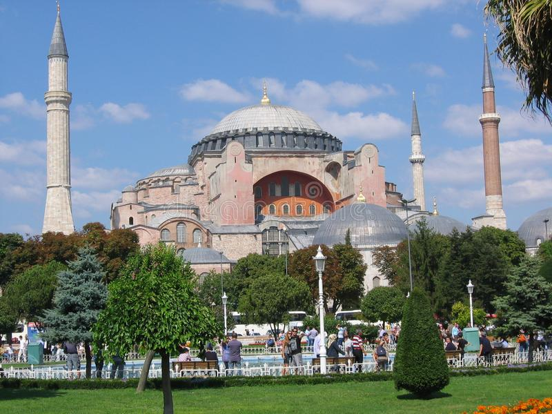 Mosque of Hagia Sofia to Istanbul in Turkey. stock photos
