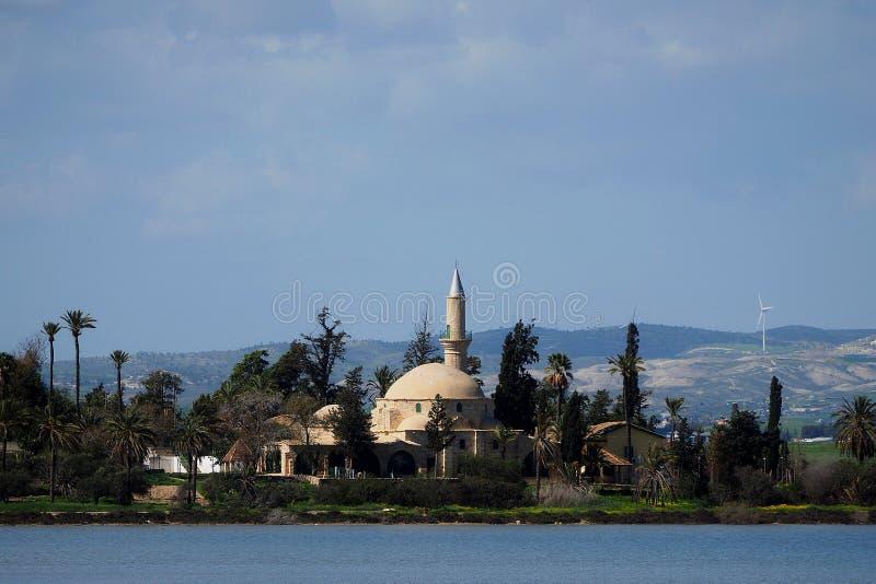 The mosque hala sultan tekke stock image