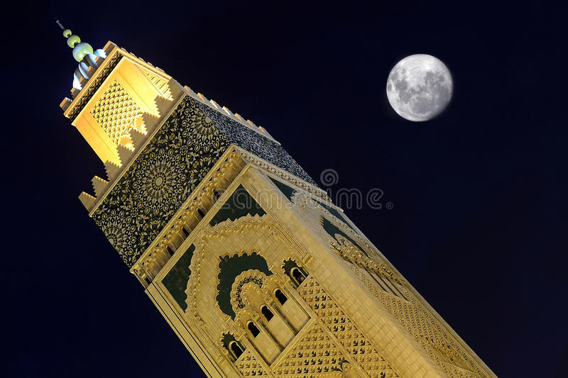 Mosque Hassan 2 Morocco royalty free stock image
