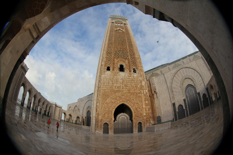 Mosque of Hassan II in Casablanca royalty free stock image