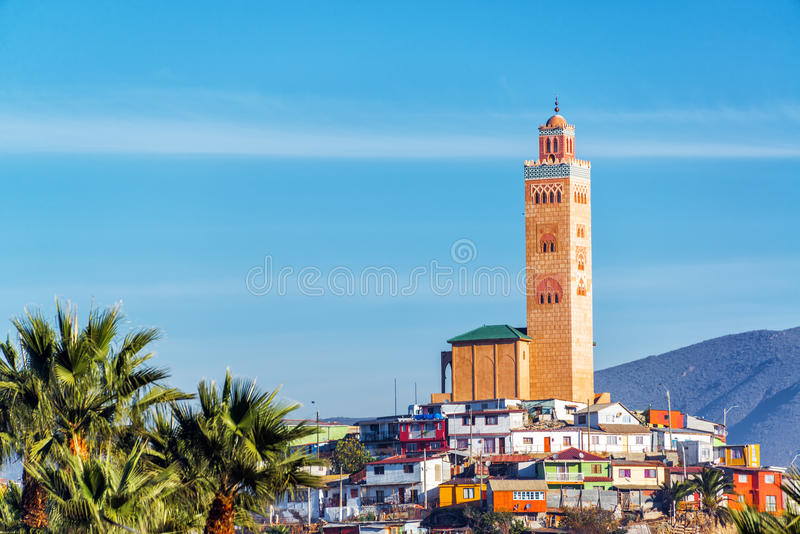 Mosque on Hill in Coquimbo, Chile royalty free stock images