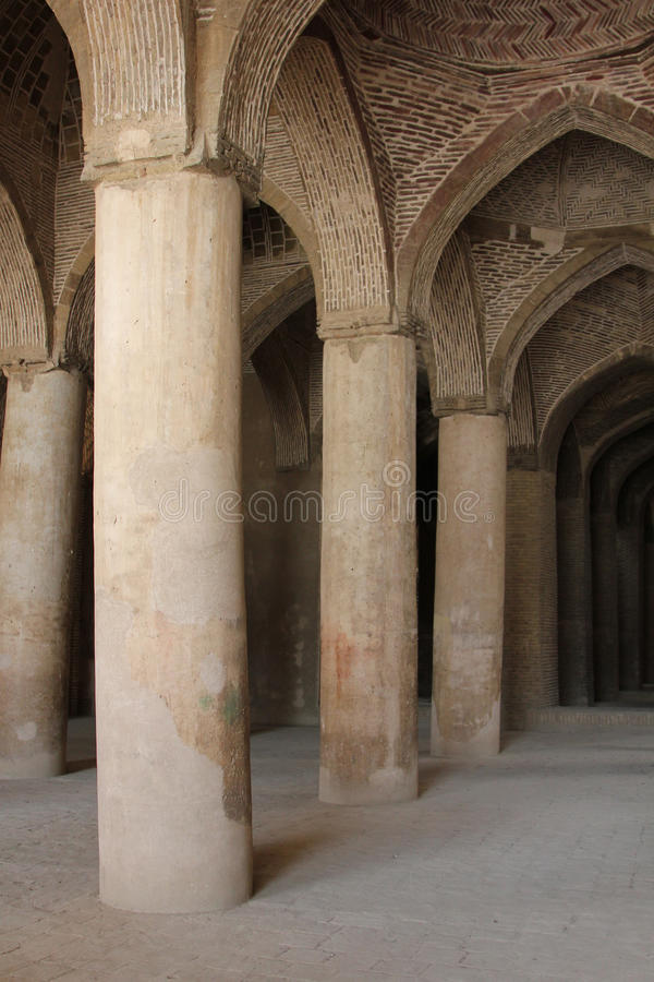 Mosque interiors in Iran. Mosque empty interiors in Iran stock images