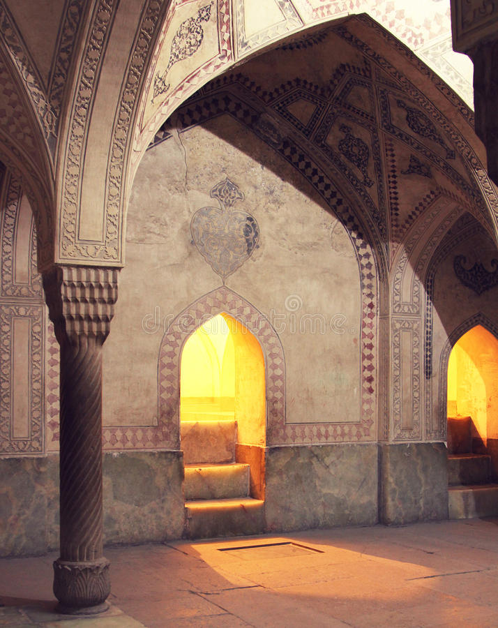 Mosque interiors in Iran. Mosque interiors in Isfahan, Iran royalty free stock image