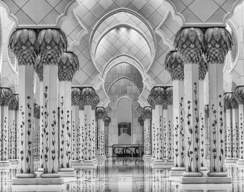 Mosque Interiors. Shaikh Zayed Grand Mosque, Abu Dhabi interiors royalty free stock photography