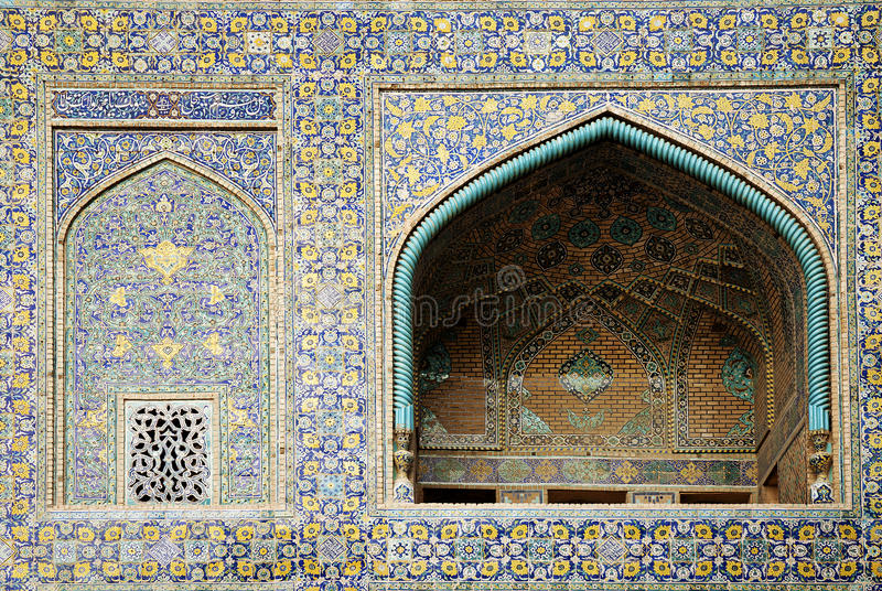 Mosque in isfahan iran. Mosque tiles in isfahan iran stock image