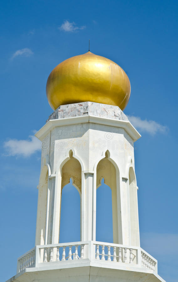 Mosque of Islamic domes. Symbol of the golden domes of the Mosque of Islamic royalty free stock photo