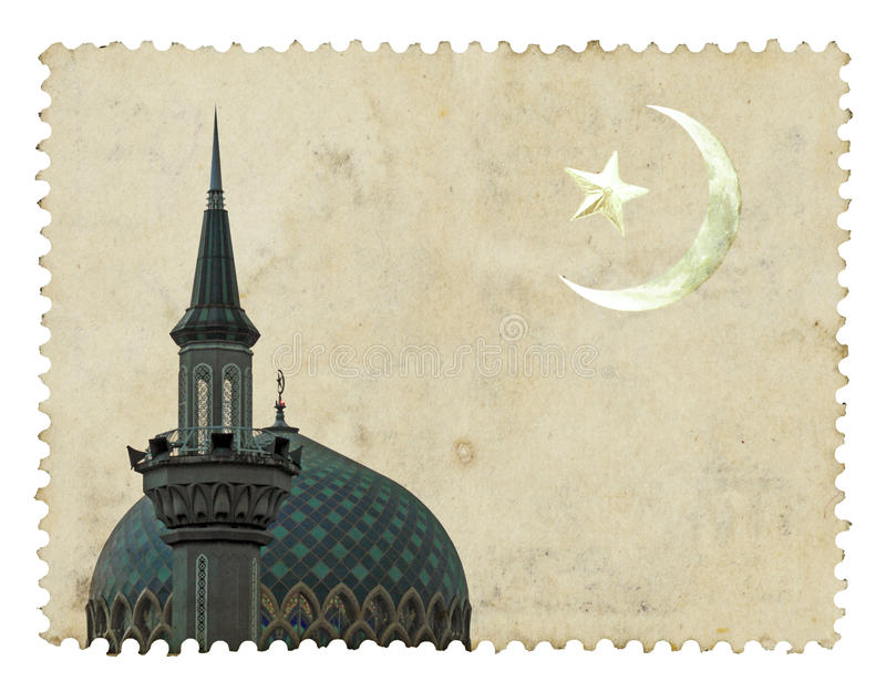 Mosque Islamic motif royalty free stock image
