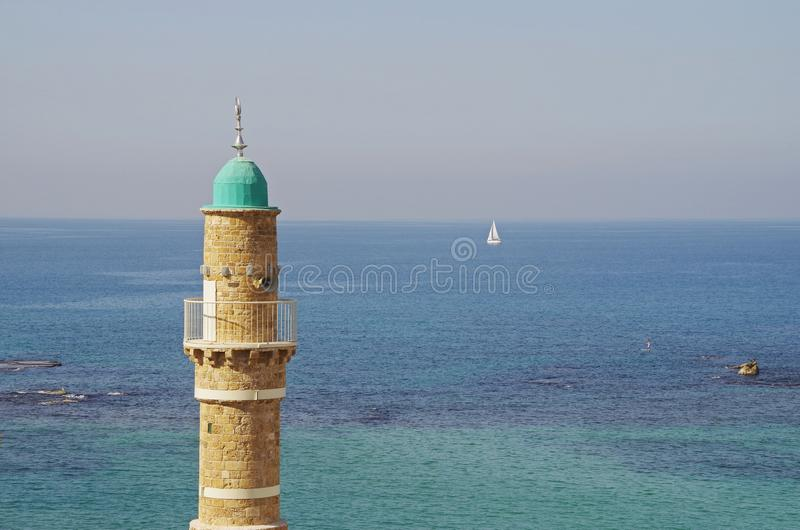 Mosque in Jaffa, Tel Aviv stock image