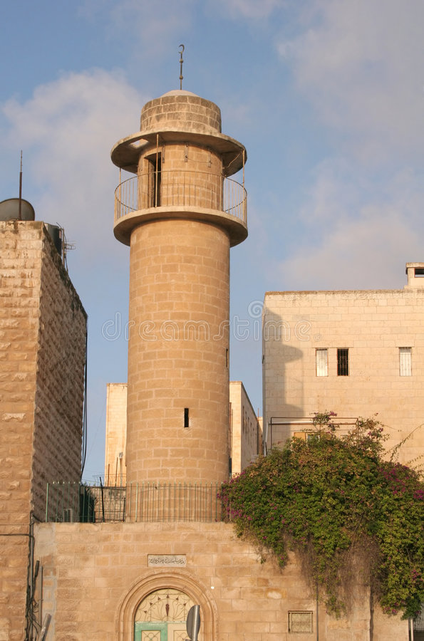 Mosque in Jerusalem. One of the many mosques in the old city of Jerusalem stock photo