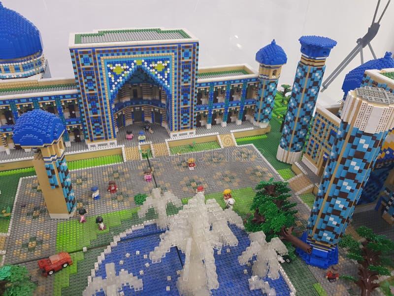 Mosque made of ligo. Mosque made of lego samarkand stock images