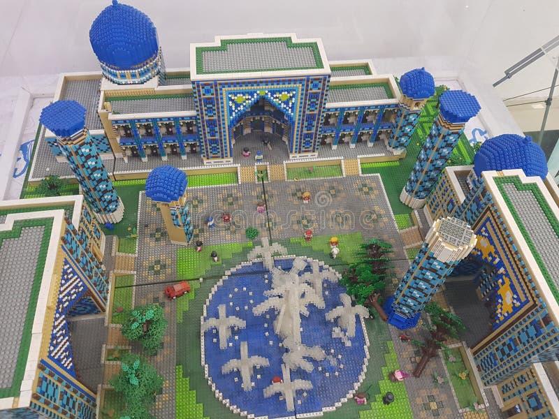Mosque made of ligo. Mosque made of lego samarkand stock image