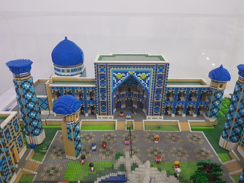 Mosque made of ligo. Mosque made of lego samarkand royalty free stock image