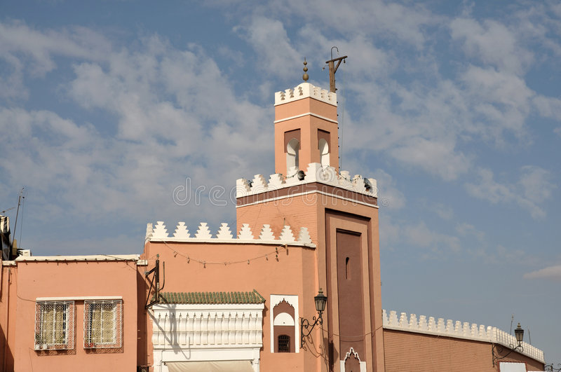 Download Mosque in Marrakech stock image. Image of islamic, arab - 7341347