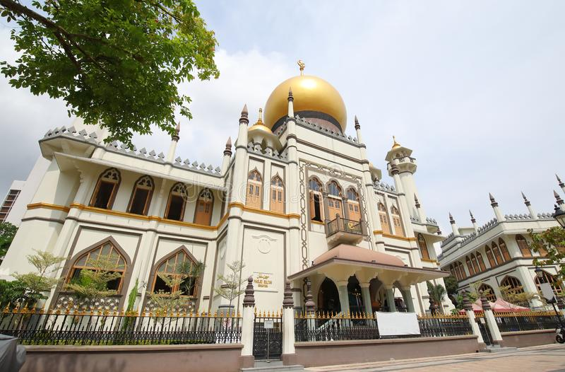 Mosque Masjid Sultan Singapore. Mosque Masjid Sultan in Singapore royalty free stock image