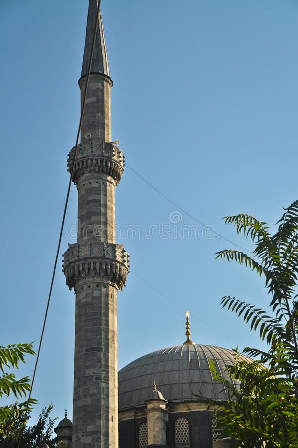 Mosque and Minaret Blue Mosque. Islam, which has the characteristics of a piece of Ottoman architecture royalty free stock photos