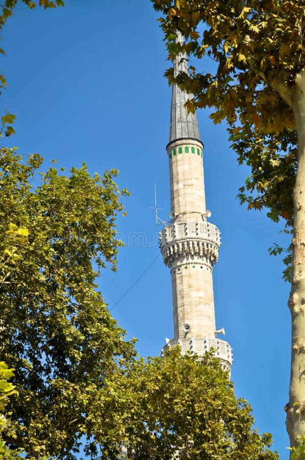 Mosque and Minaret Blue Mosque. Islam, which has the characteristics of a piece of Ottoman architecture royalty free stock photo