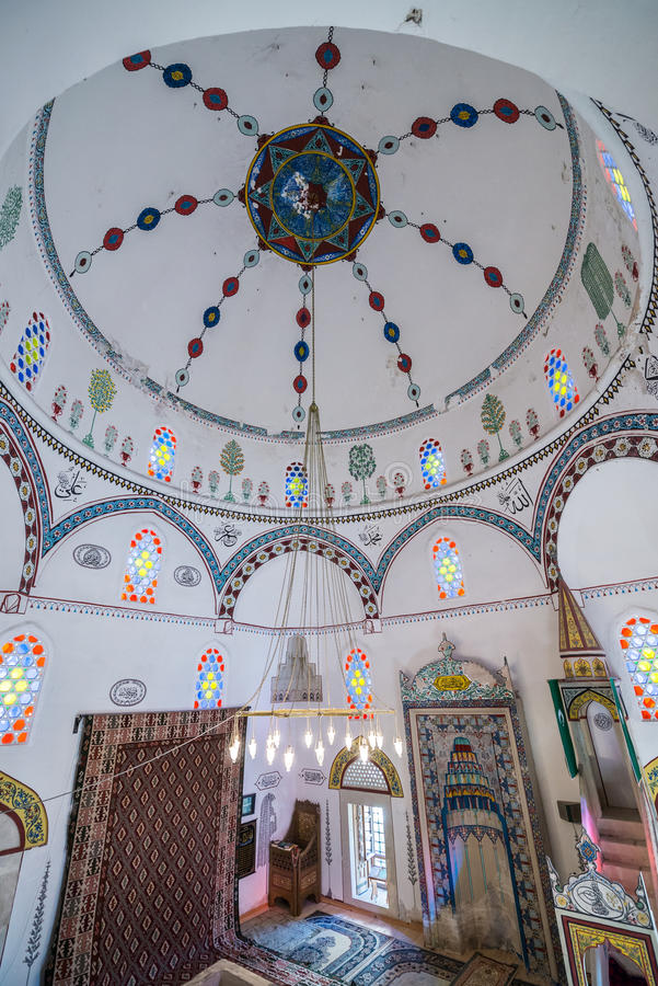 Mosque in Mostar. Koski Mehmed Pasha Mosque in Mostar city, Bosnia and Herzegovina royalty free stock image