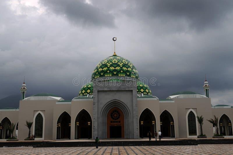 Mosque in Natuna Island. Riau islands province (Kepri), Indonesia stock photo